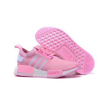 Adidas Originals Nmd R1 Runner Primeknit Women Blue Pink Adidas